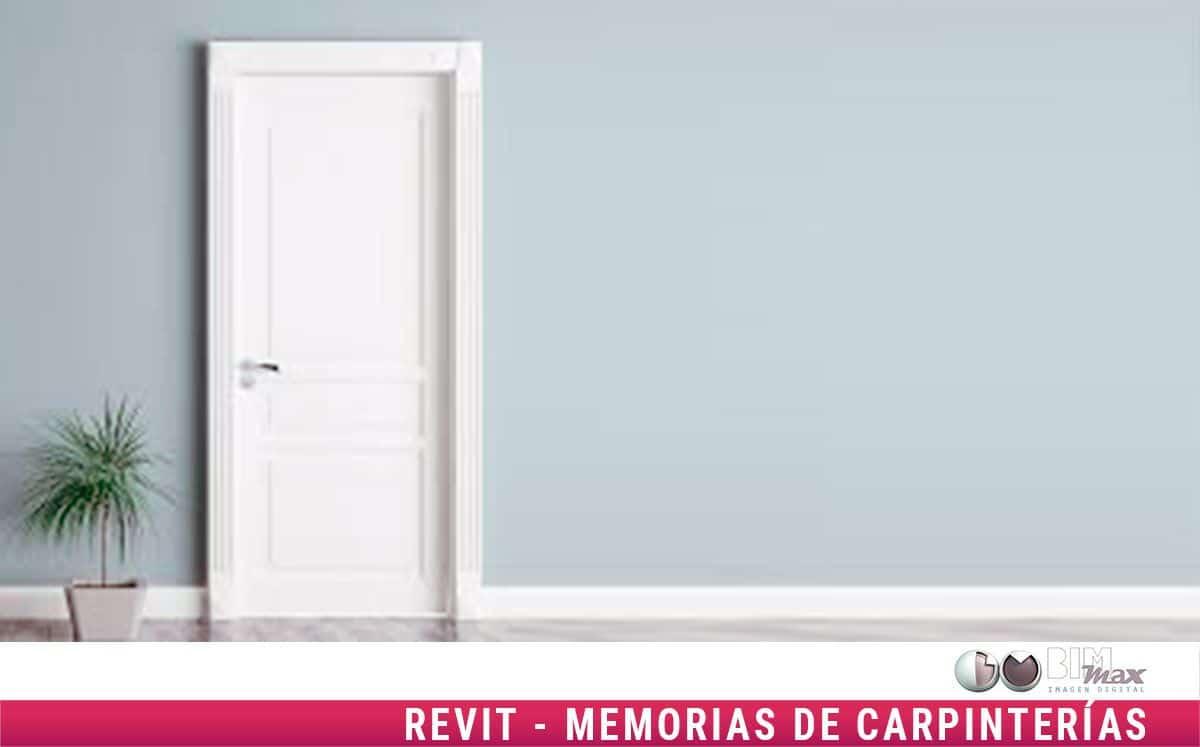 Memoria Carpinterías Revit