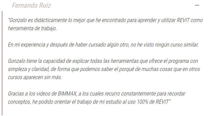 Testimonio de un alumno de BIMMAX